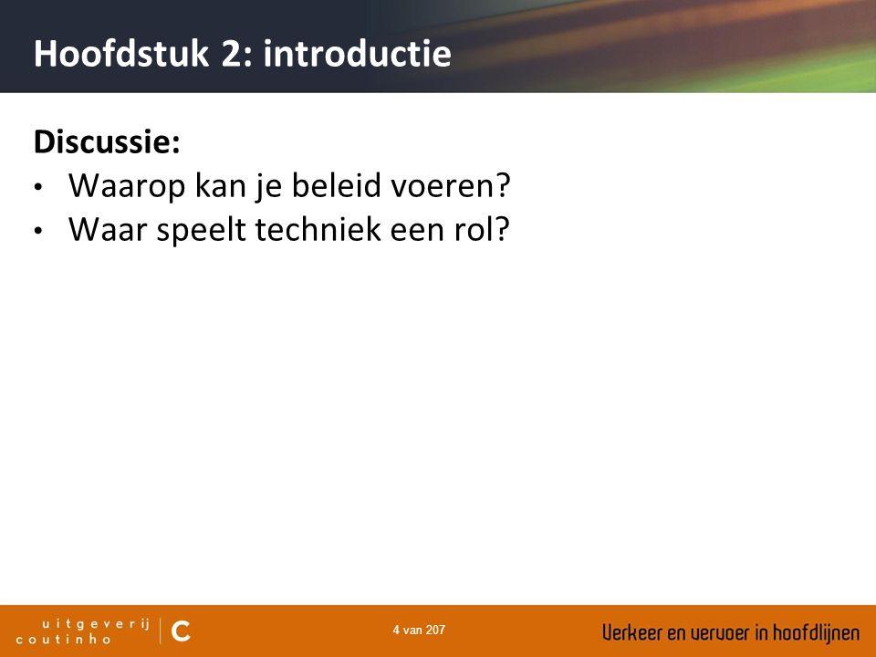4 van 207 Hoofdstuk 2: introductie Discussie: Waarop kan je beleid voeren? Waar speelt techniek een rol?