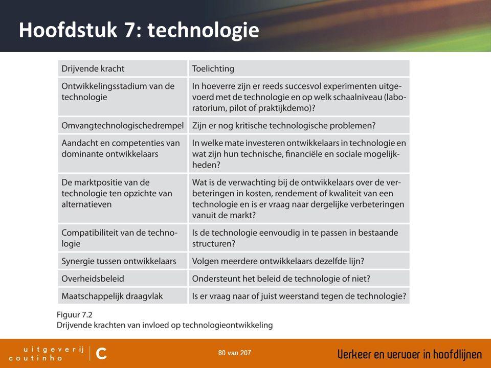 80 van 207 Hoofdstuk 7: technologie