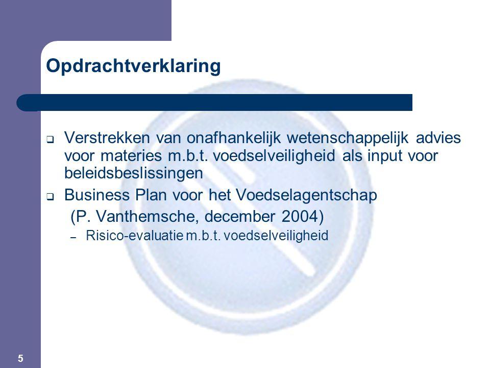5 Opdrachtverklaring  Verstrekken van onafhankelijk wetenschappelijk advies voor materies m.b.t.