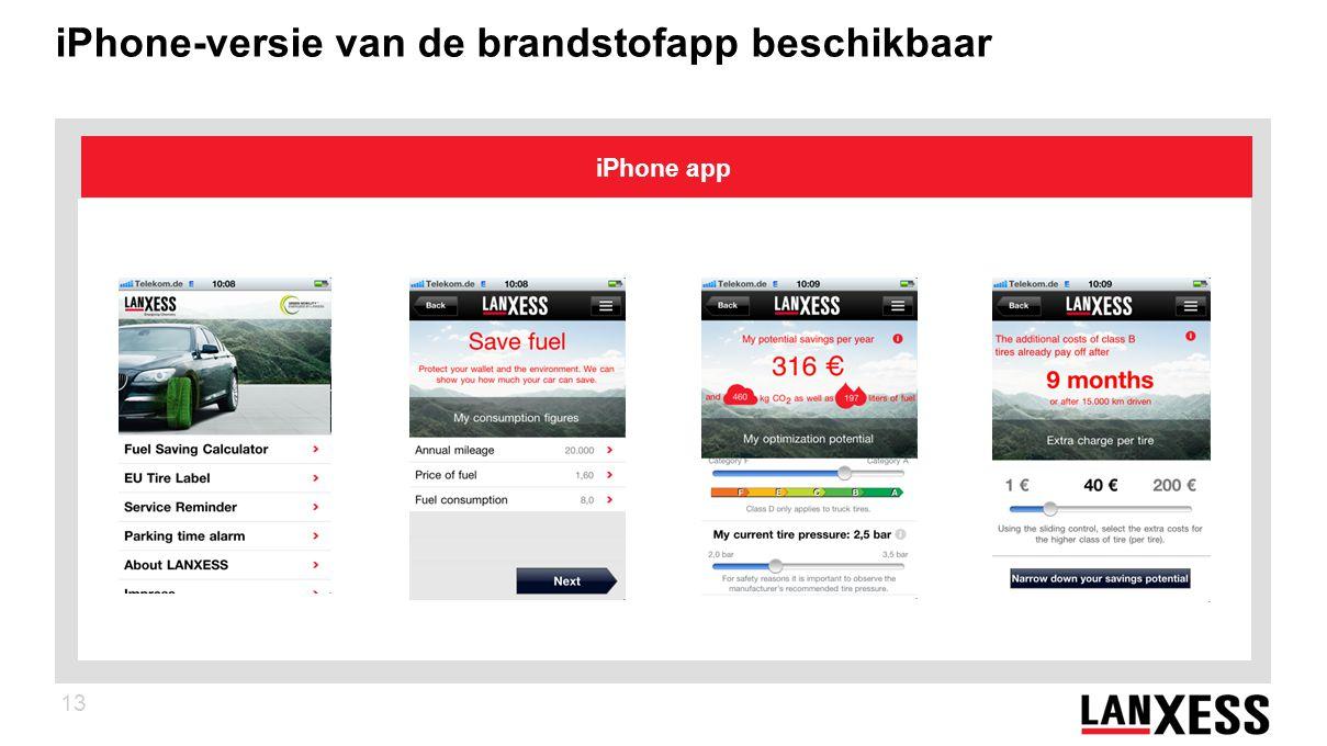 13 iPhone-versie van de brandstofapp beschikbaar iPhone app