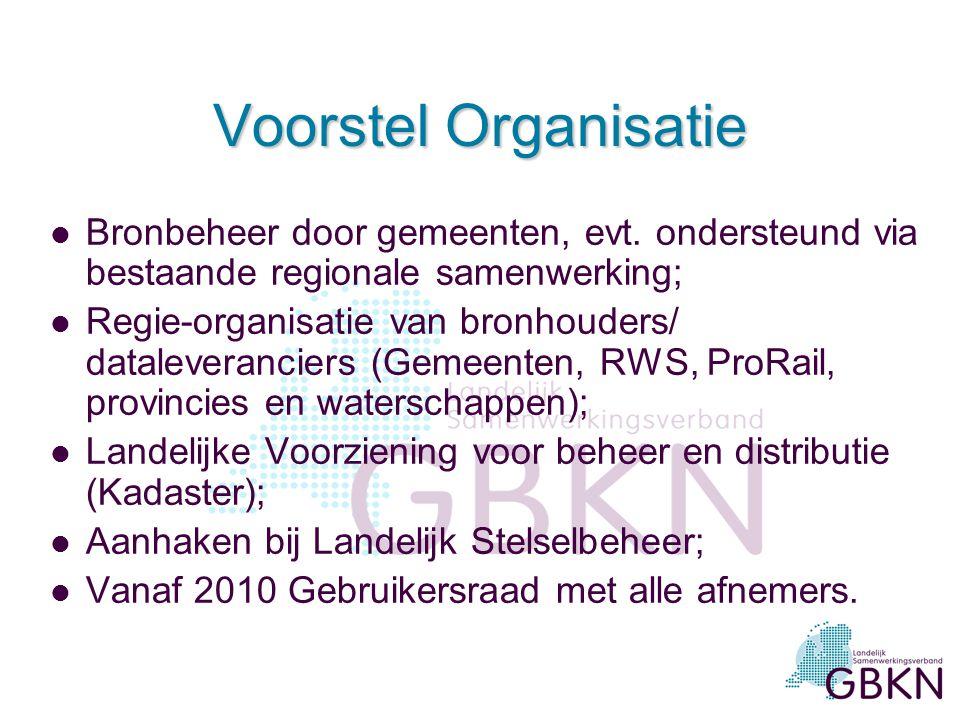 Voorstel Organisatie l Bronbeheer door gemeenten, evt.