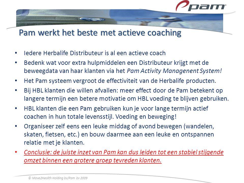 Pam werkt het beste met actieve coaching Iedere Herbalife Distributeur is al een actieve coach Bedenk wat voor extra hulpmiddelen een Distributeur kri