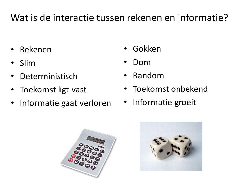 Wat is de interactie tussen rekenen en informatie.