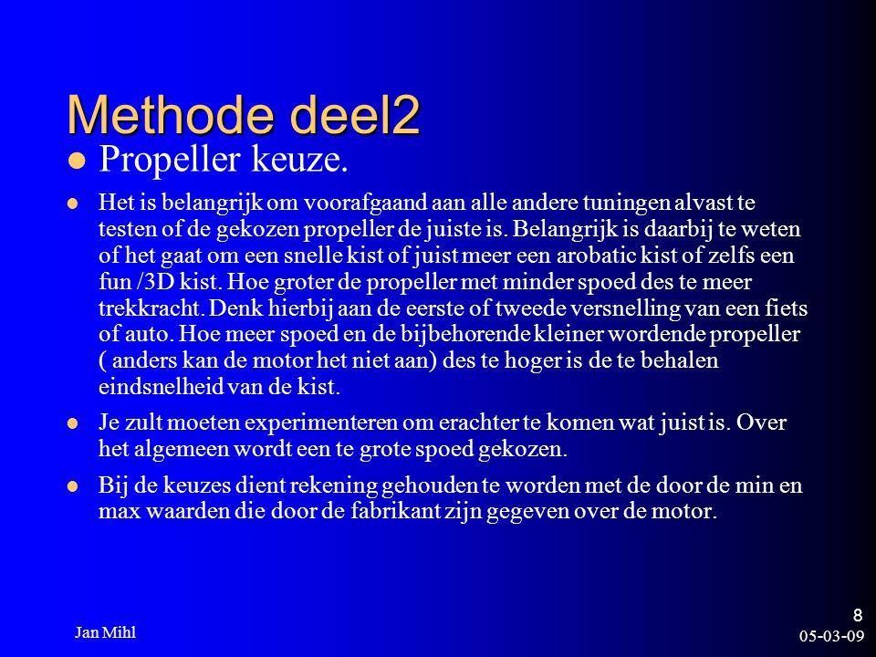 05-03-09 Jan Mihl 9 Methode deel 2 Servo s