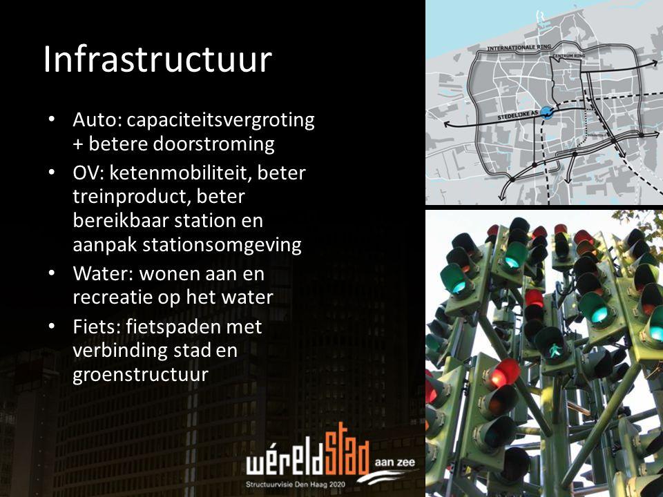 Auto: capaciteitsvergroting + betere doorstroming OV: ketenmobiliteit, beter treinproduct, beter bereikbaar station en aanpak stationsomgeving Water:
