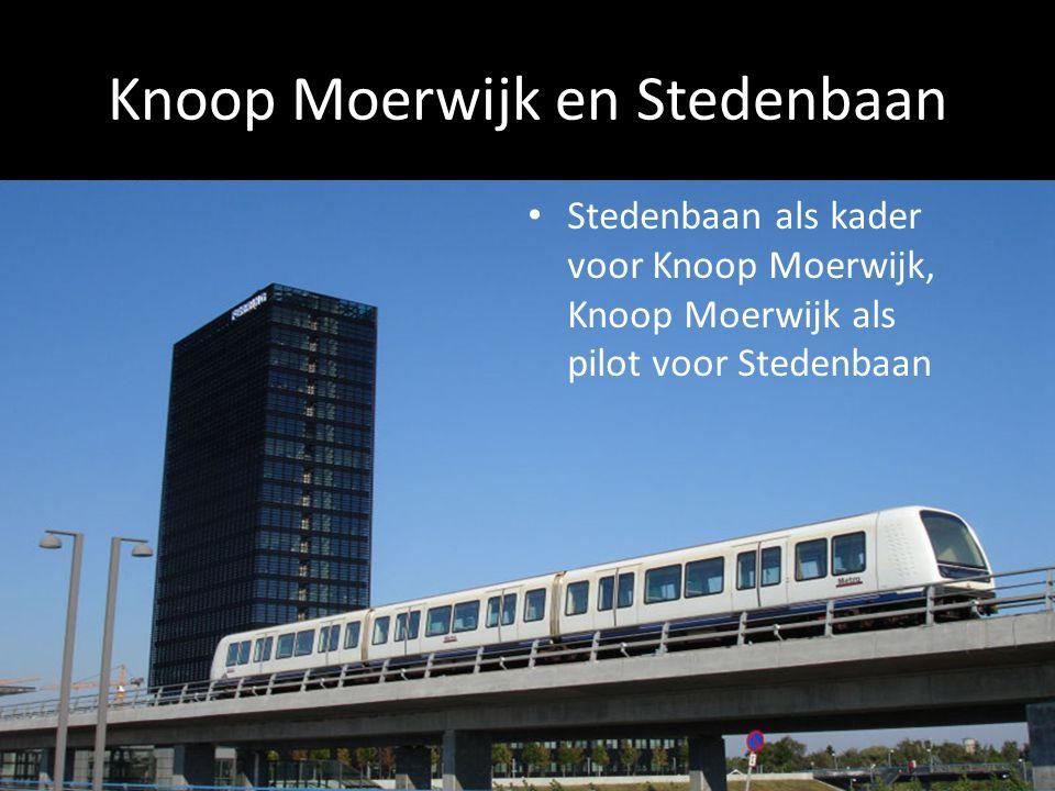 Knoop Moerwijk en Stedenbaan Stedenbaan als kader voor Knoop Moerwijk, Knoop Moerwijk als pilot voor Stedenbaan