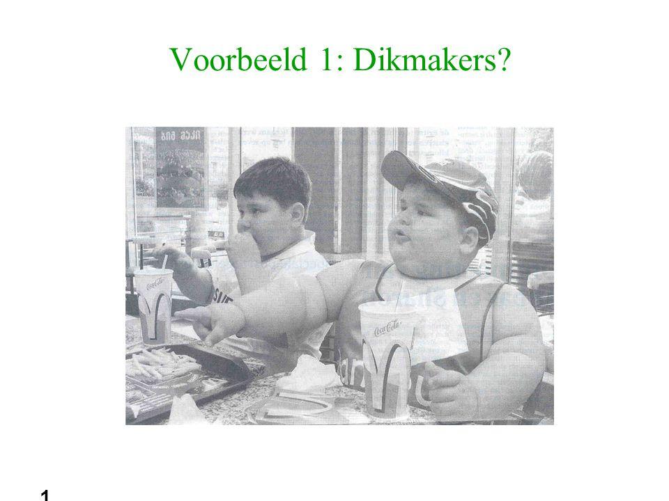 18 Voorbeeld 1: Dikmakers?