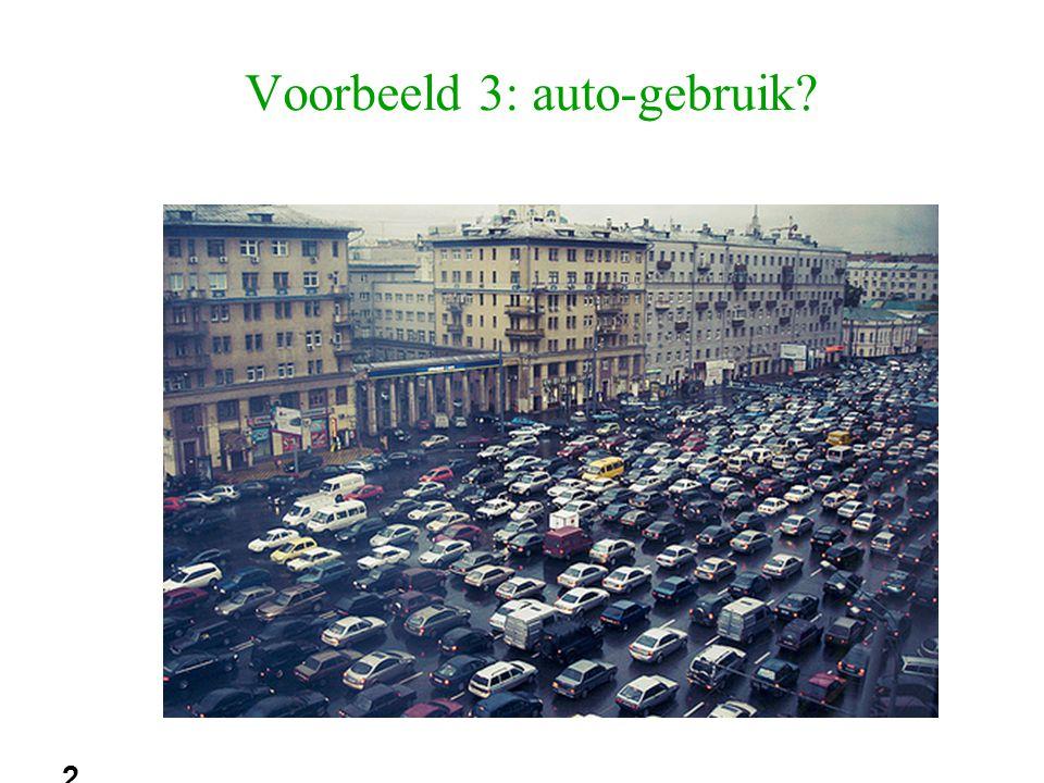 20 Voorbeeld 3: auto-gebruik?