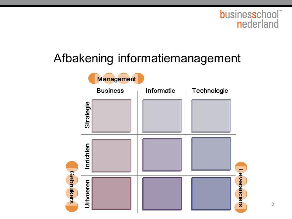 3 Business vragen  Wie zijn onze klanten en wat willen wij voor hun betekenen.