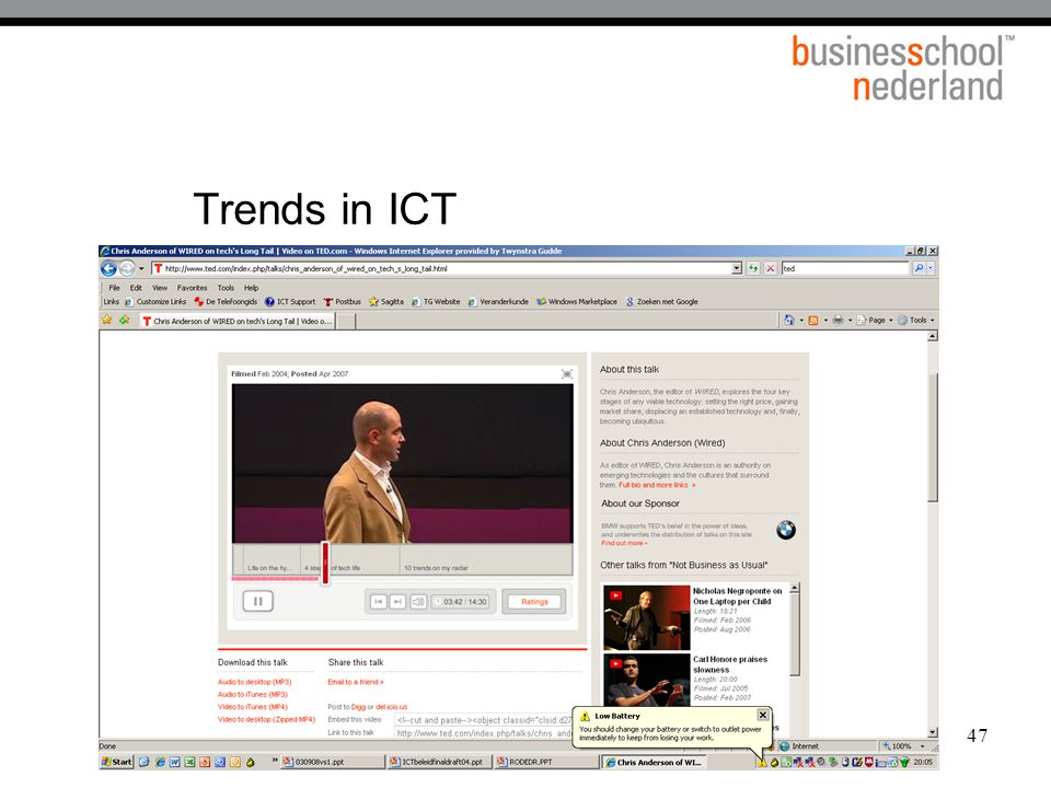 47 Trends in ICT