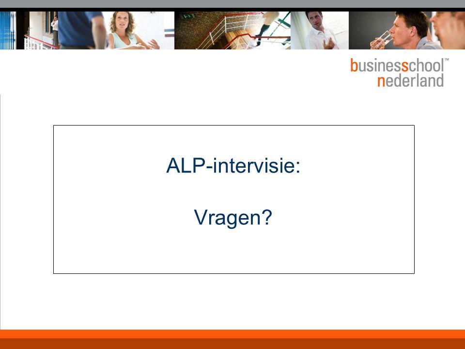 ALP-intervisie: Vragen?