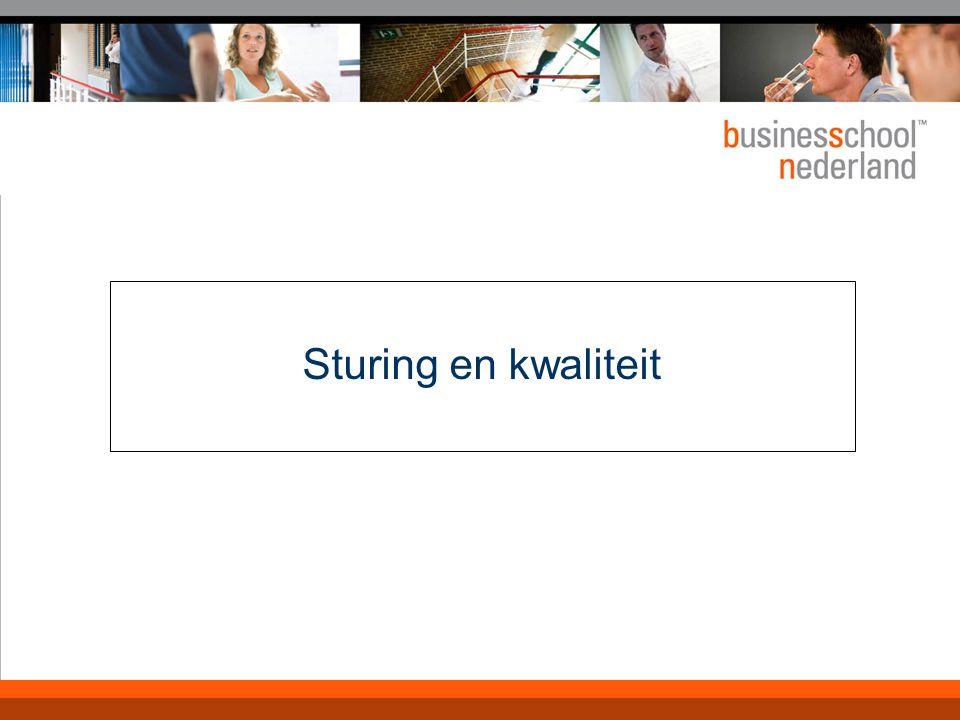 6 Doelen en doelstellingen Inzicht in:  Sturingsgrondslagen en -logica  Sturingsconcept Planning & Control  De lerende organisatie  Sturing op besturing (bewustwording)  Sturings- en kwaliteitsmodellen  Toepassing (sturing in de praktijk)