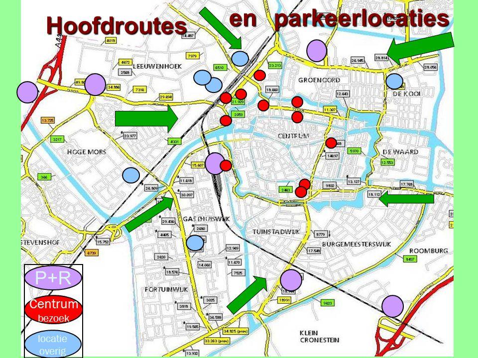P+R Centrum bezoek locatie overig Hoofdroutesparkeerlocatiesen