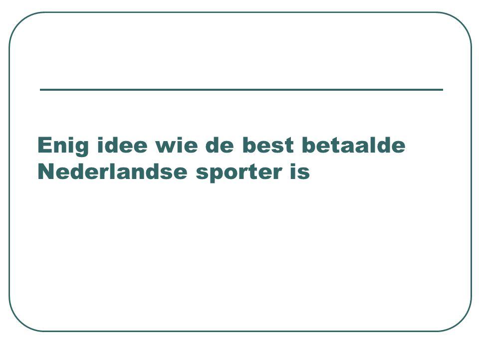 Allemaal fout, het is: Andruw Jones (echt een Nederlander) Vraag 5: Wat verdiende hij?