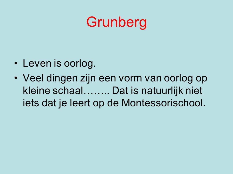 Grunberg Leven is oorlog.Veel dingen zijn een vorm van oorlog op kleine schaal……..