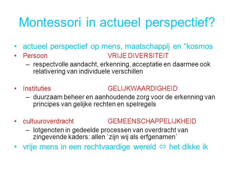 Montessori in actueel perspectief.