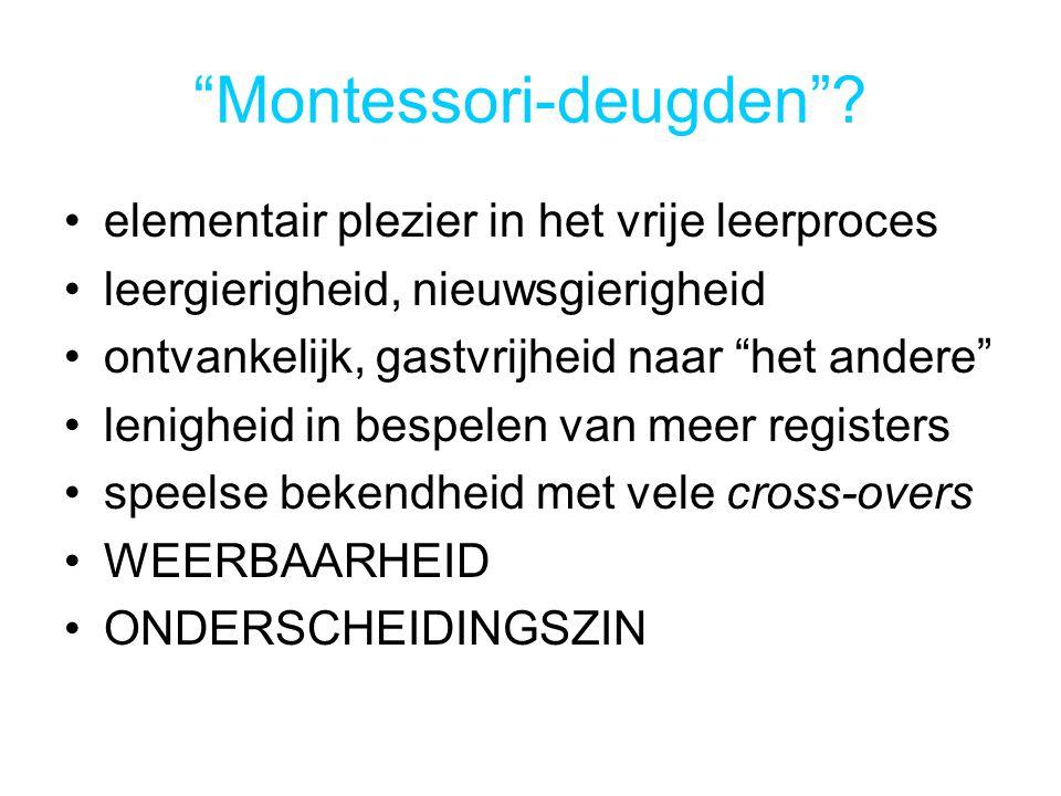 Montessori-deugden .