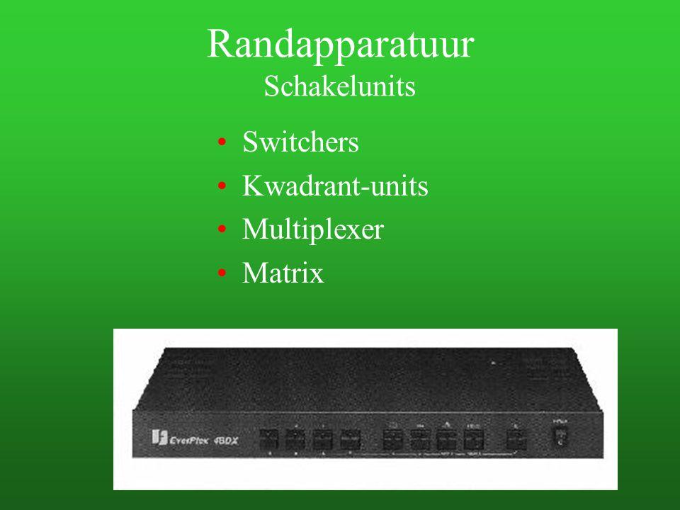 Randapparatuur Schakelunits Switchers Kwadrant-units Multiplexer Matrix