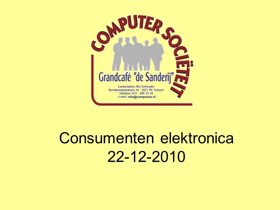 Consumenten elektronica 22-12-2010