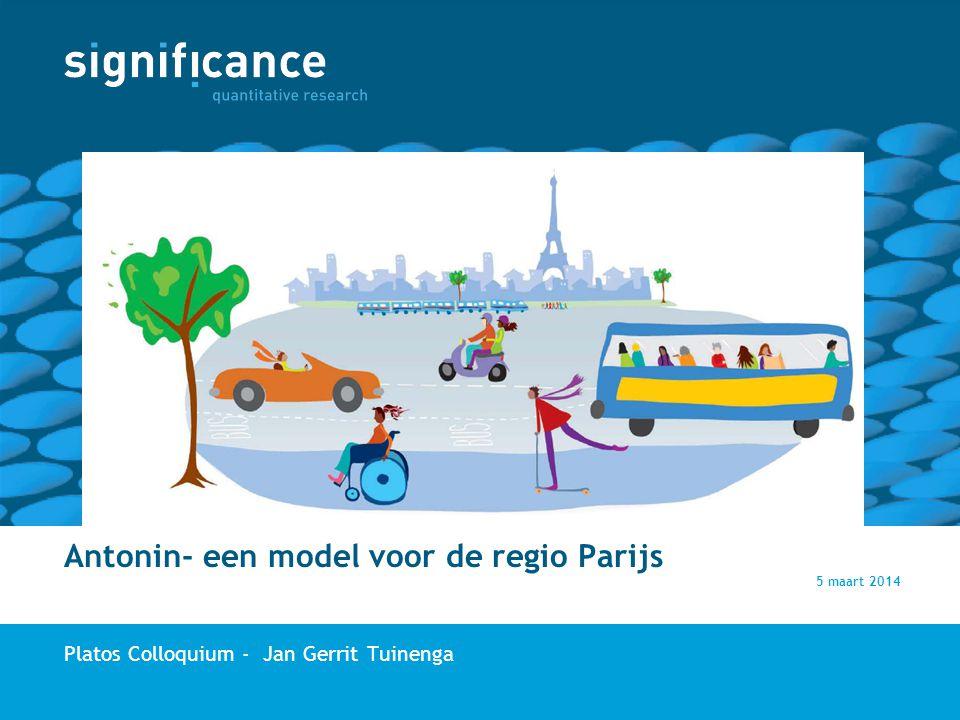 Antonin- een model voor de regio Parijs Platos Colloquium - Jan Gerrit Tuinenga 5 maart 2014