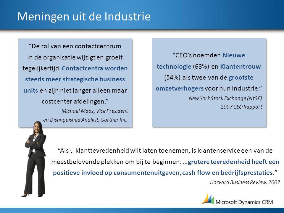 Meningen uit de Industrie De rol van een contactcentrum in de organisatie wijzigt en groeit tegelijkertijd.