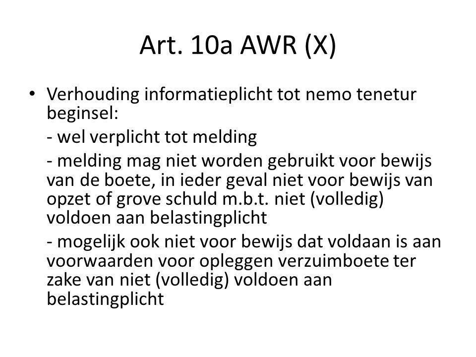 Rechtsbescherming bij controlehandelingen (I) Bij niet-voldoen aan informatie- en/of administratie- en bewaarverplichtingen ex art.