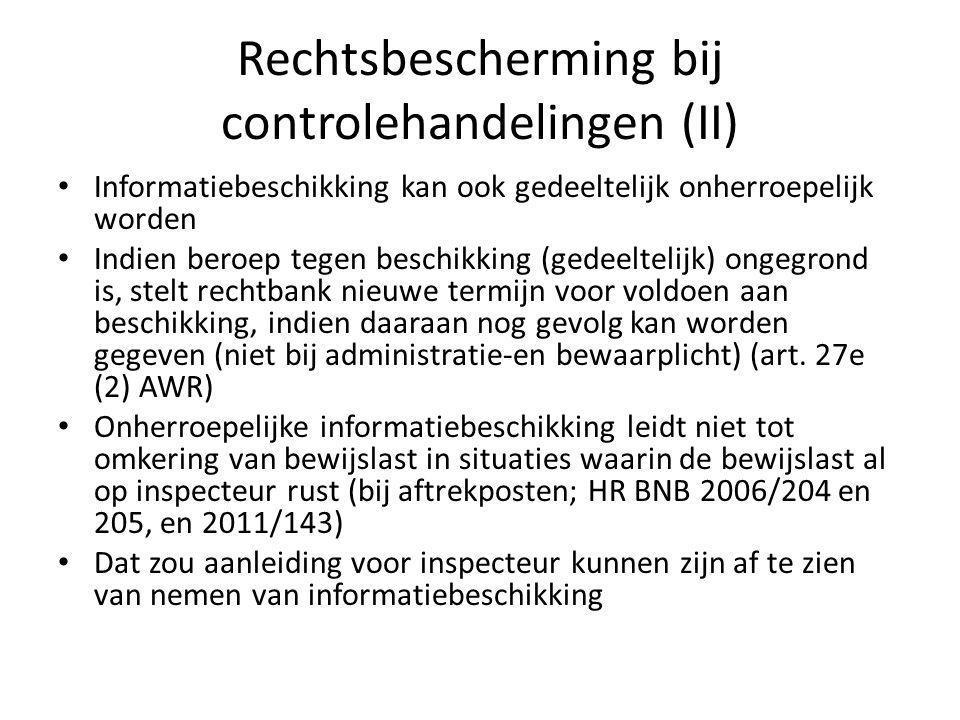 Rechtsbescherming bij controlehandelingen (III) Onder een te nemen beschikking in art.