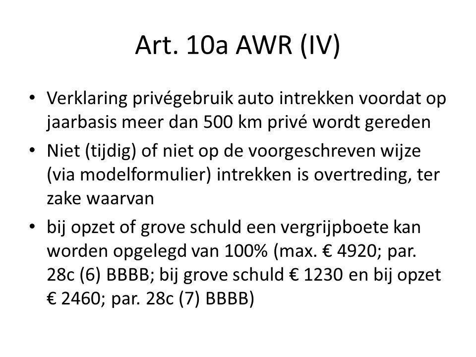 Art.10a AWR (V) Bestrijding Edelweissroute door art.