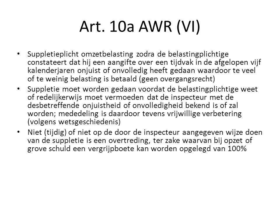 Art.10a AWR (VII) Par.