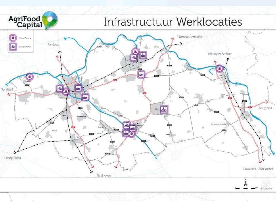 HOV Noordoost-Brabant Verbinden met andere strategische regio's Versterken van vestigingsmilieu Verbinden van werklocaties Duurzame mobiliteit