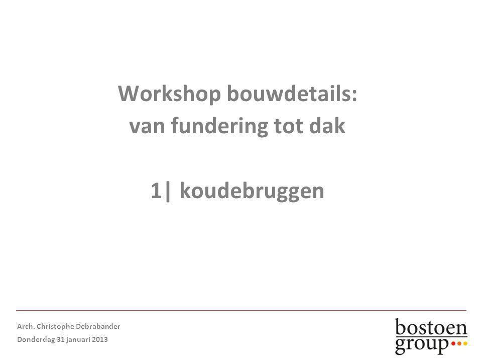 Workshop bouwdetails: van fundering tot dak 1| koudebruggen Arch.