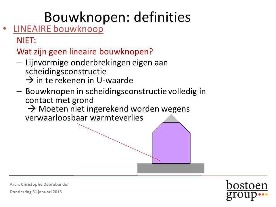 Bouwknopen: definities LINEAIRE bouwknoop NIET: Wat zijn geen lineaire bouwknopen.