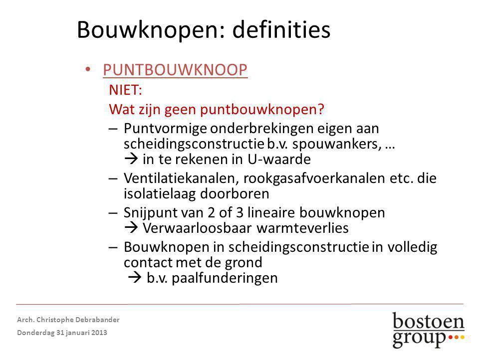 Bouwknopen: definities PUNTBOUWKNOOP NIET: Wat zijn geen puntbouwknopen.