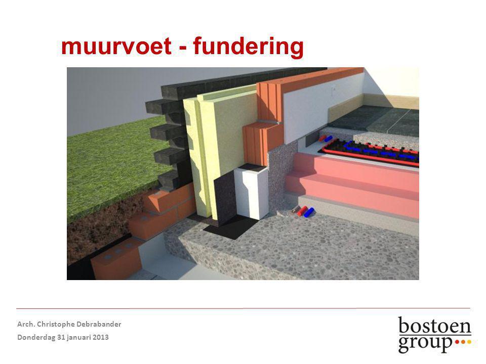 muurvoet - fundering Arch. Christophe Debrabander Donderdag 31 januari 2013
