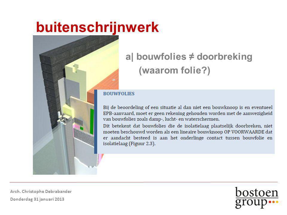 buitenschrijnwerk a| bouwfolies ≠ doorbreking (waarom folie?) Arch.