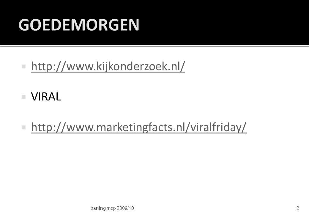  Demografisch  Economisch  Juridisch  Technologisch  Sociaal Cultureel traning mcp 2009/1033