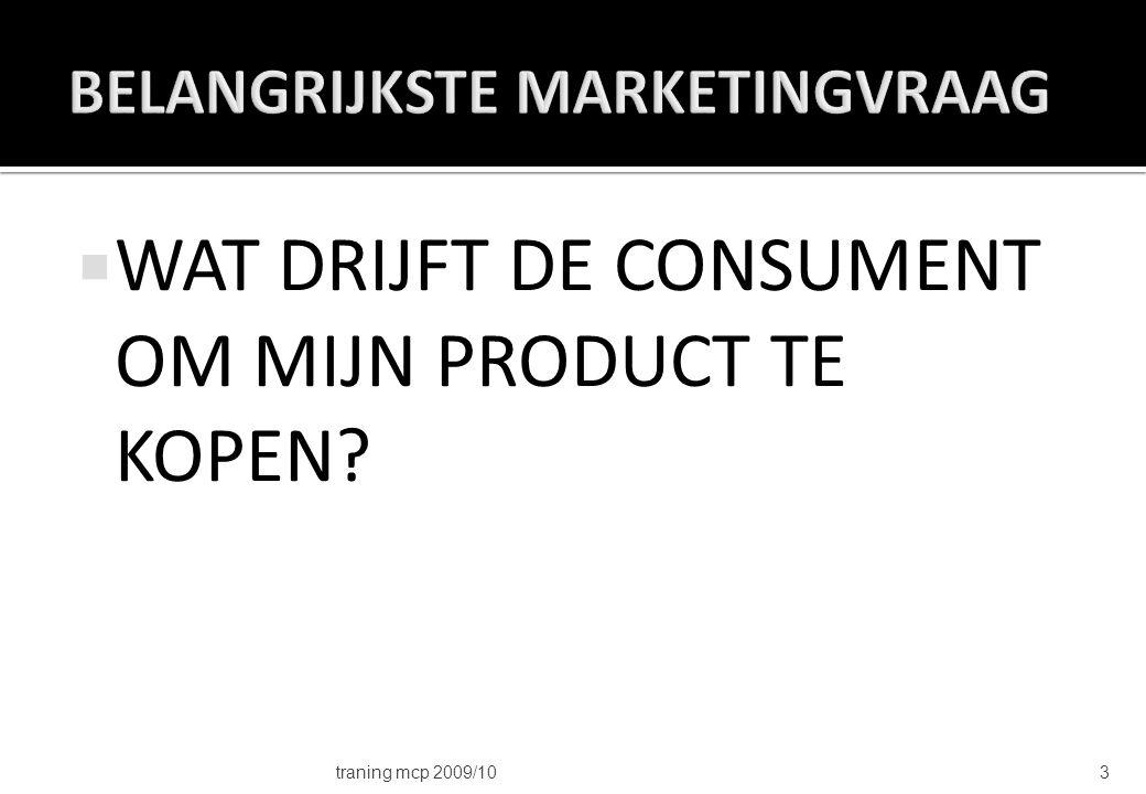 1.Onderzoek naar de consument (HFST 5) 2.