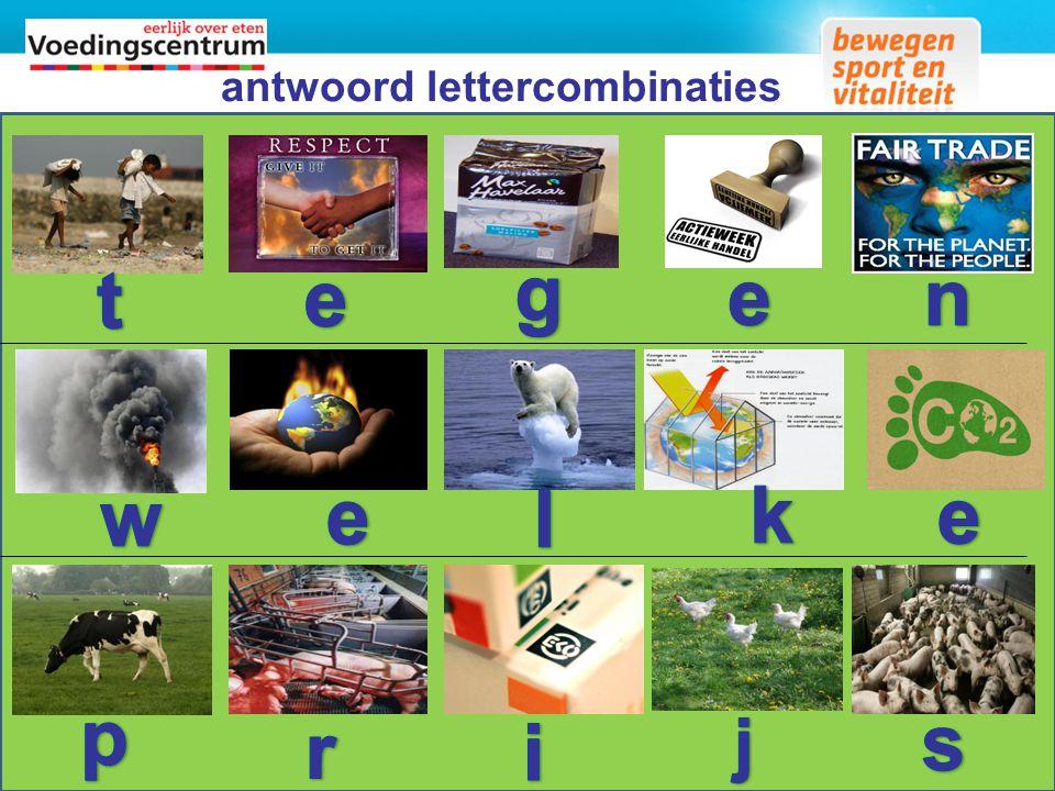 antwoord lettercombinaties