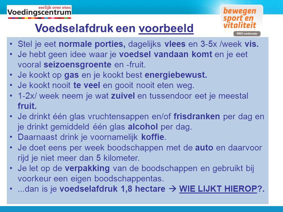 Meer informatie. www.voedingscentrum.nl Een duurzame wereld… WAT KIES JIJ.