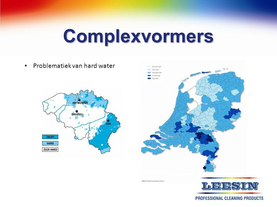 Complexvormers Problematiek van hard water