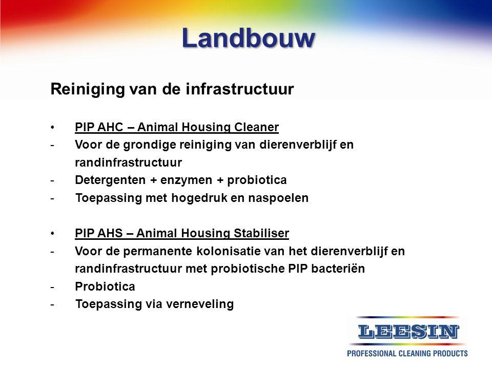 Landbouw Reiniging van de infrastructuur PIP AHC – Animal Housing Cleaner -Voor de grondige reiniging van dierenverblijf en randinfrastructuur -Deterg