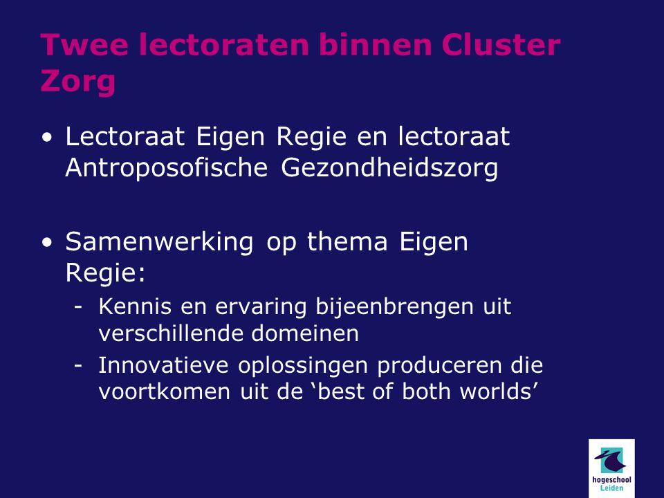 Mijn presentatie Kennis Introductie Antroposofische Gezondheidszorg Bijdragen aan het thema Eigen Regie/ zelfmanagement Voorbeelden