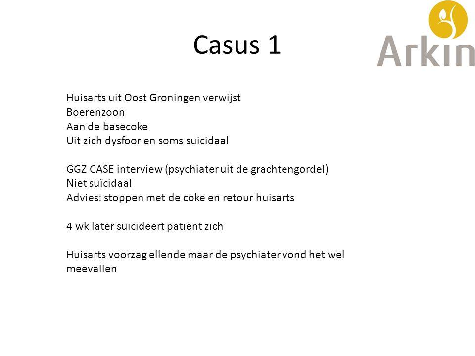Casus 1 Huisarts uit Oost Groningen verwijst Boerenzoon Aan de basecoke Uit zich dysfoor en soms suicidaal GGZ CASE interview (psychiater uit de grach