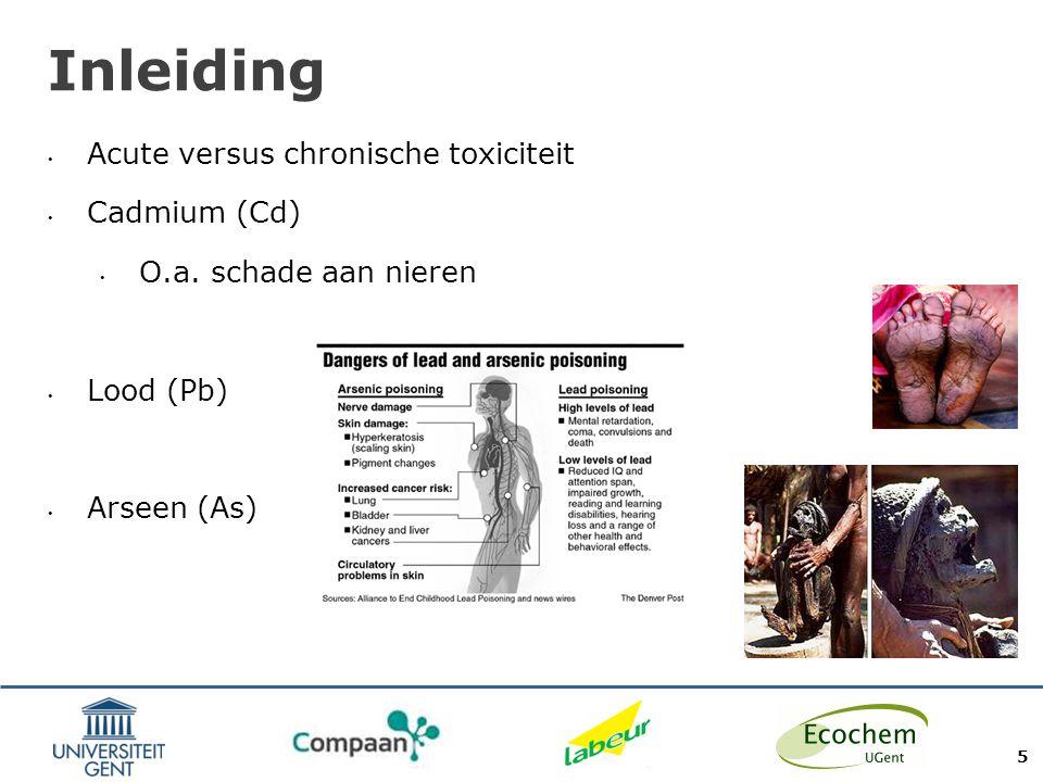 Inleiding Normen gebaseerd op chronische toxiciteit 6