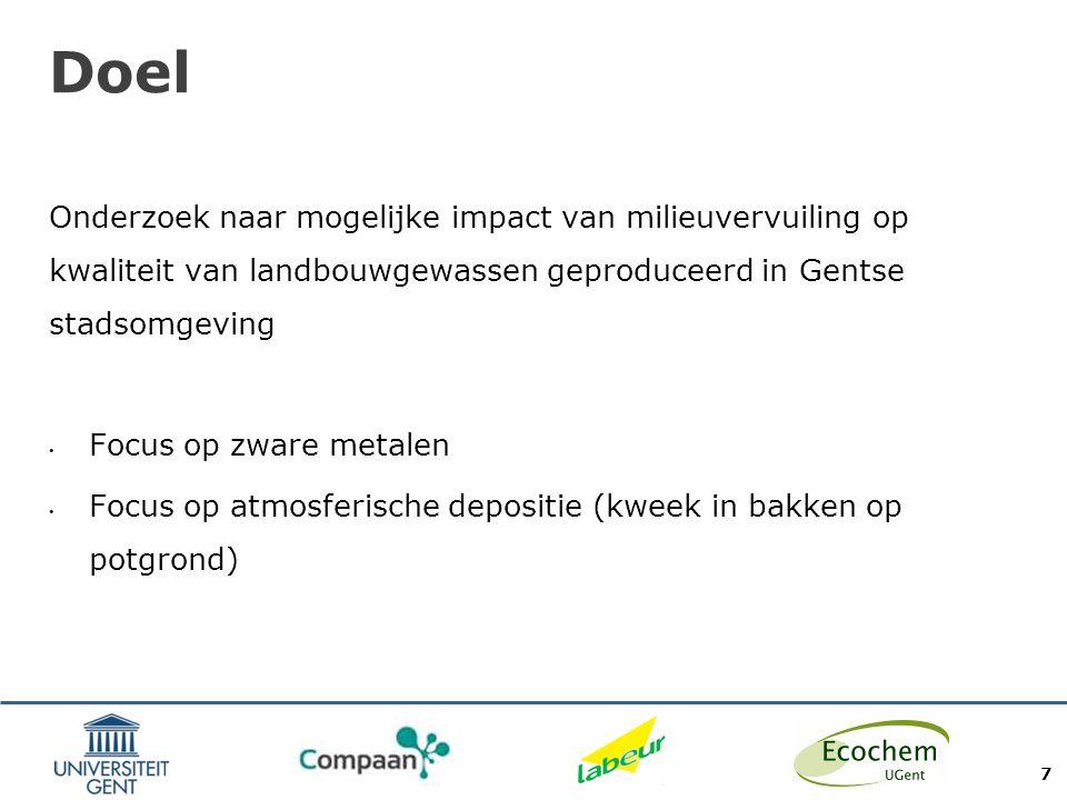 Proefopzet Snijsla gekweekt – vooral in bakken op potgrond + deels volle grond 30 deelnemers in totaal, gespreid over Gent en ruime omgeving - verdeeld over 2 oogsten: Eerste oogst (28) zomer 2013 Tweede oogst (22) oktober 2013 8