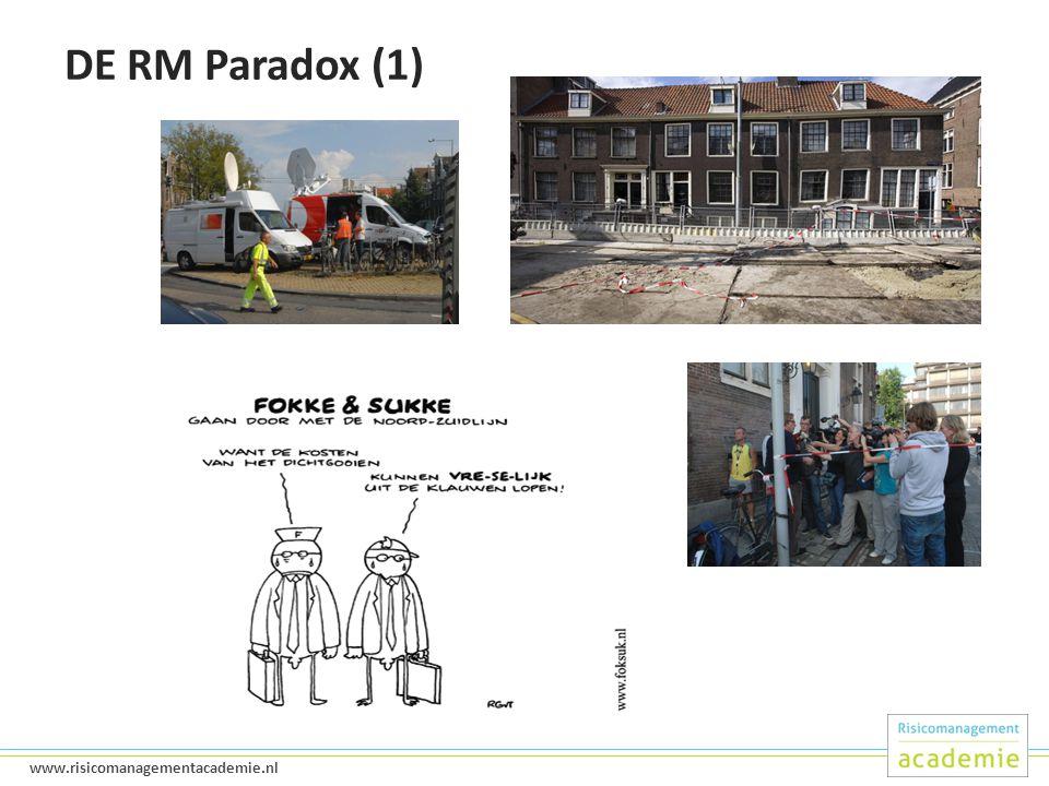 4 www.risicomanagementacademie.nl DE RM Paradox (1)