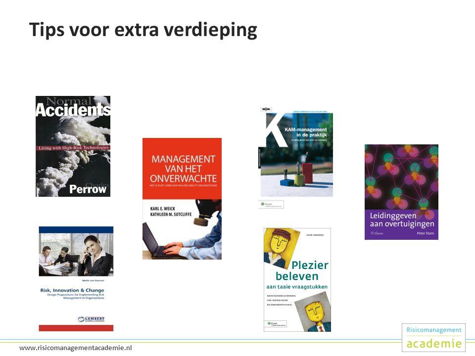 48 www.risicomanagementacademie.nl Tips voor extra verdieping