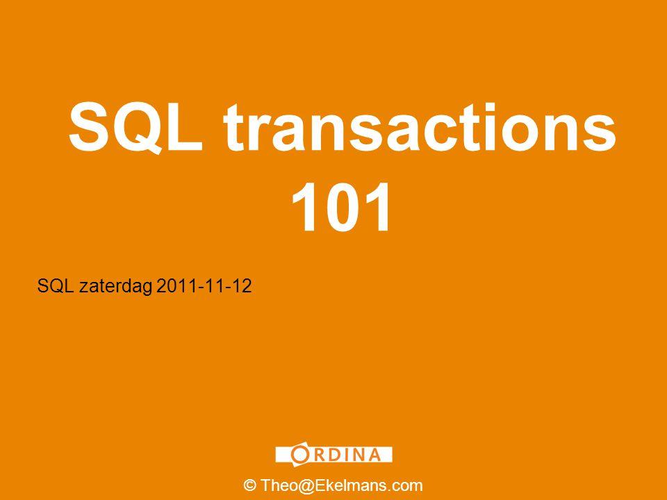 Inhoud 2 Spreker BIO Wat is een transaction.Wat betekent het begrip ACID.