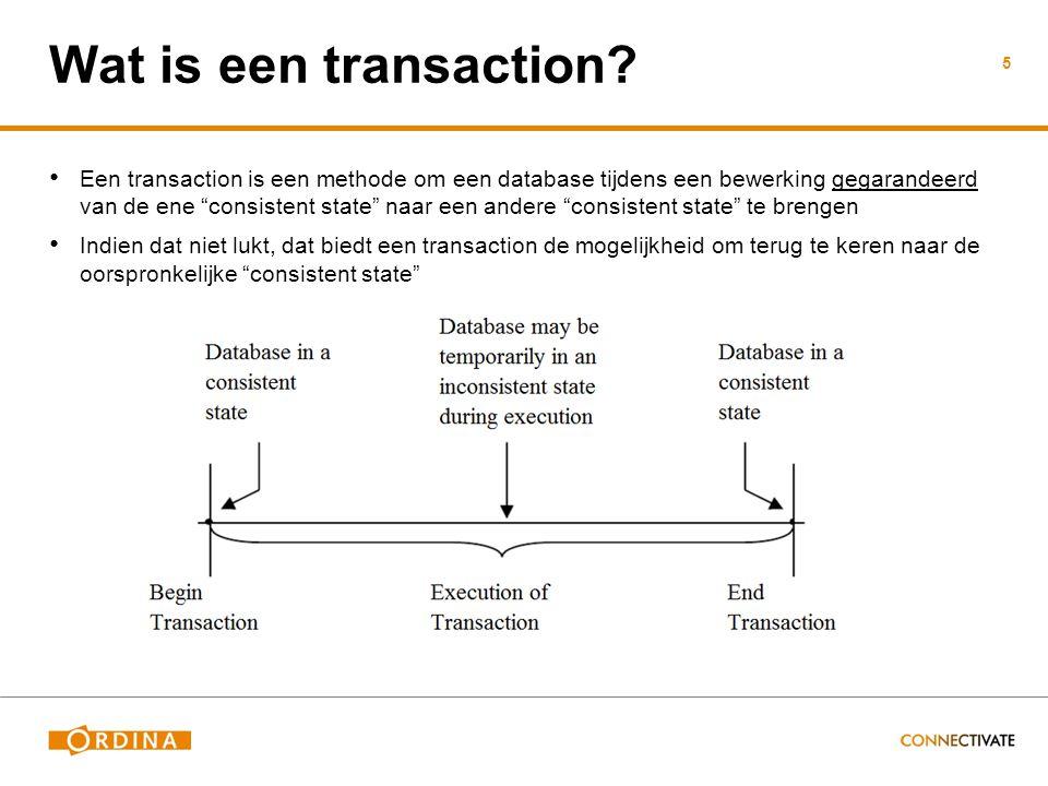 De 3 gevolgen van een isolation level keuze: Dirty reads Non-repeatable reads Phantom reads SQL transactions 101