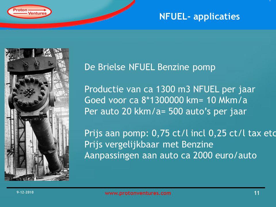 NFUEL- applicaties 9-12-2010 12www.protonventures.com